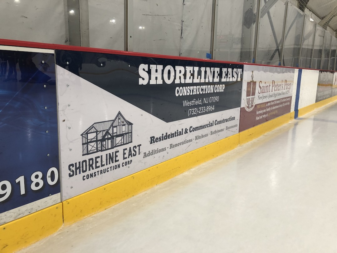 Ice Rink Board Ad